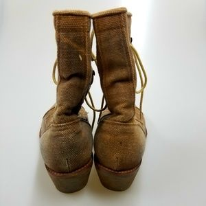 d97088fff76 Jeffrey Campbell Shoes - Jeffrey Campbell Tan Lace up Canvas Boots size 7.5
